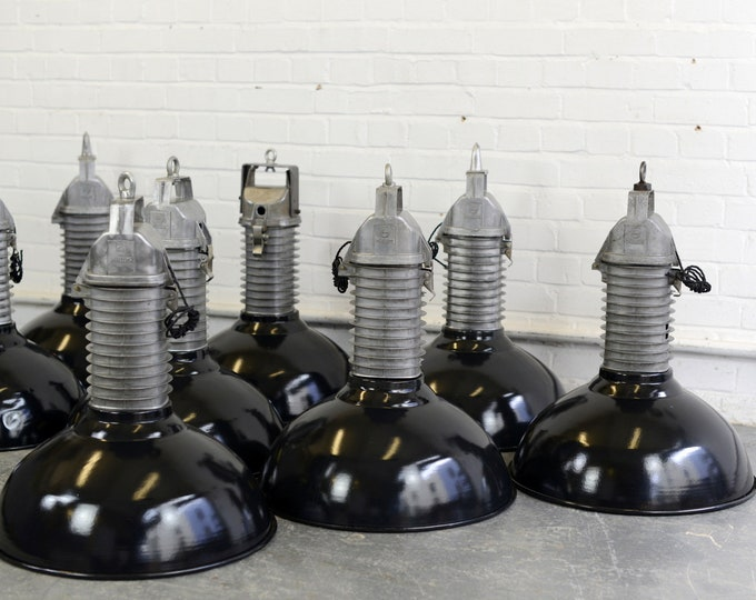 Large Dutch Industrial Lights By Phillips Circa 1950s