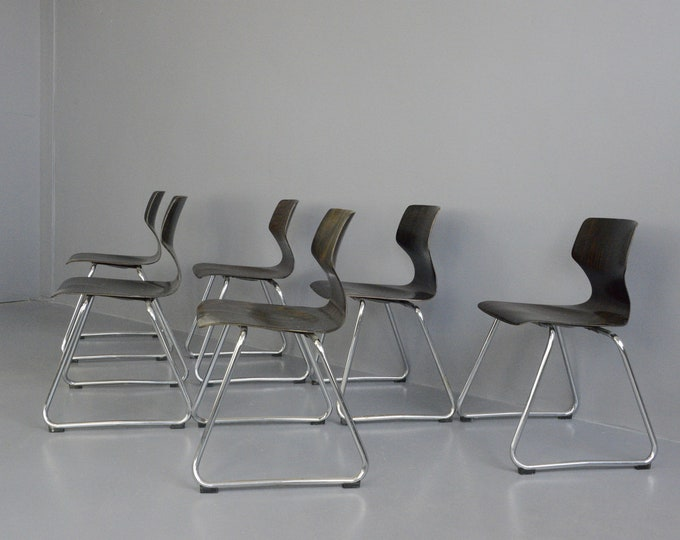 Mid Century Dining Chairs By Flototto Circa 1970s
