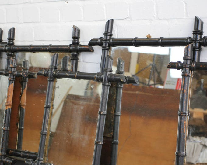 Early 20th Century Ebonised Faux Bamboo Mirrors Circa 1900