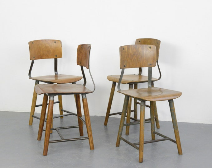 Industrial Factory Chairs By Rowac Circa 1930s