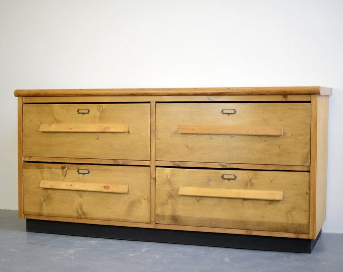 19th Century Pine Tailors Drawers