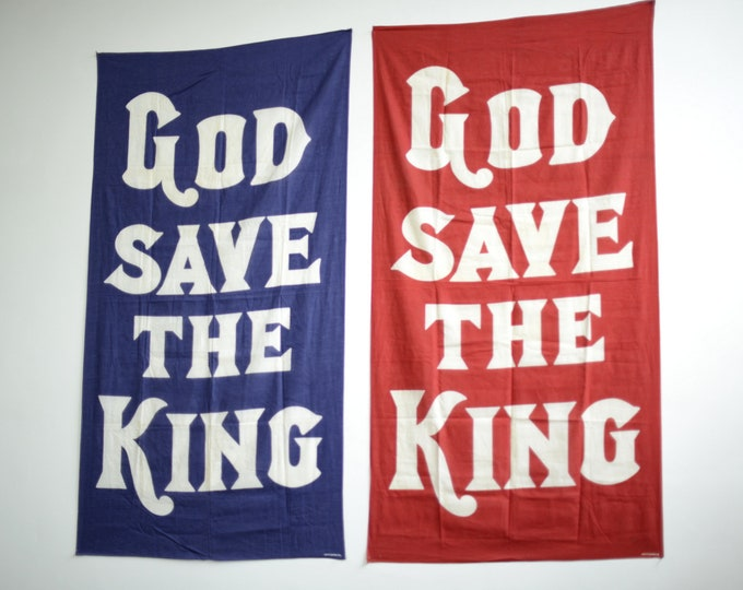 Large God Save The King Banners Circa 1930s