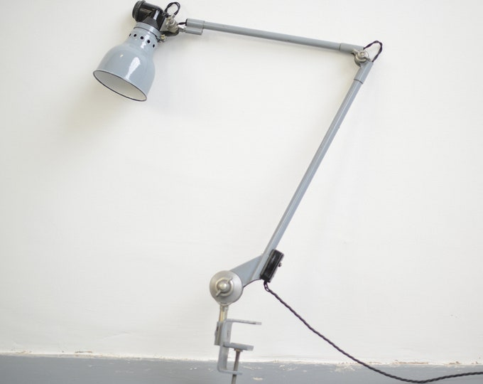 Clamp On Task Lamp By Ernst Rademacher Circa 1930s