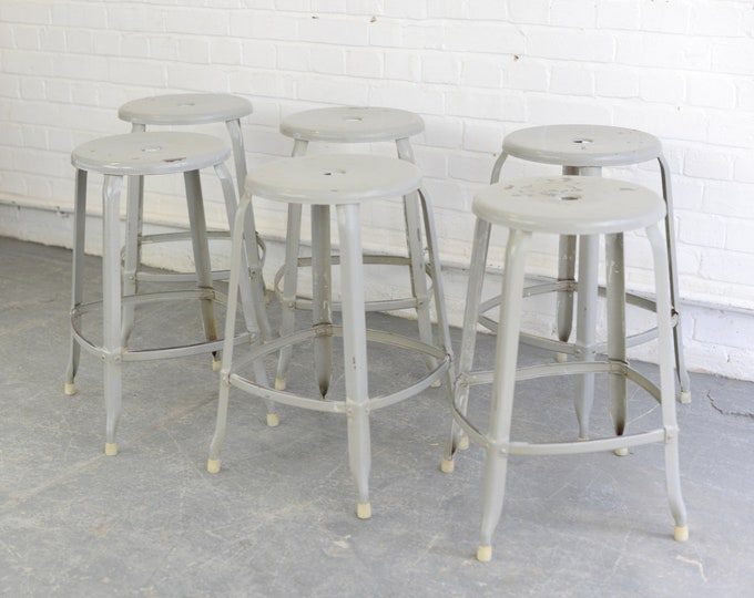 Industrial Stacking Stools By Nicolle Circa 1950s