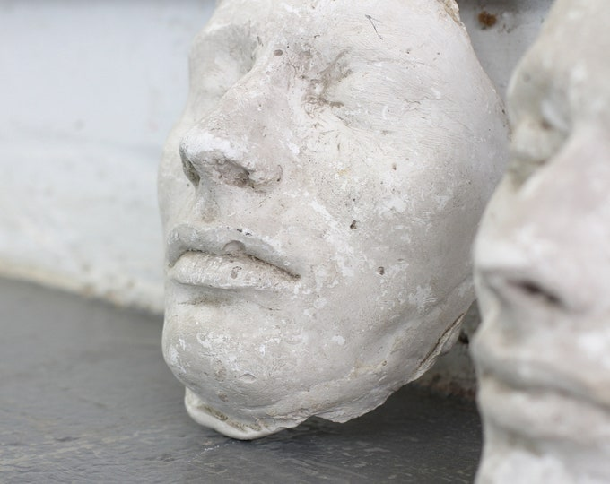 A Pair Of 19th Century Plaster Death Masks