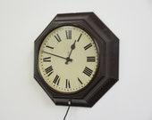Octagonal Bakelite Post Office Clock Circa 1930s