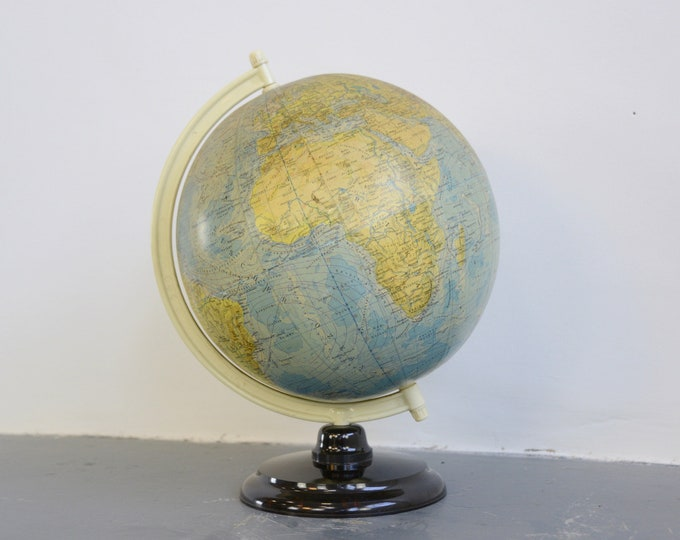 Large Mid Century German Desk Globe