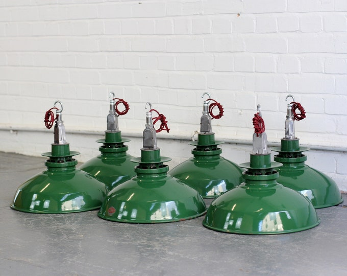 Industrial Factory Lights By Thorlux Circa 1950s