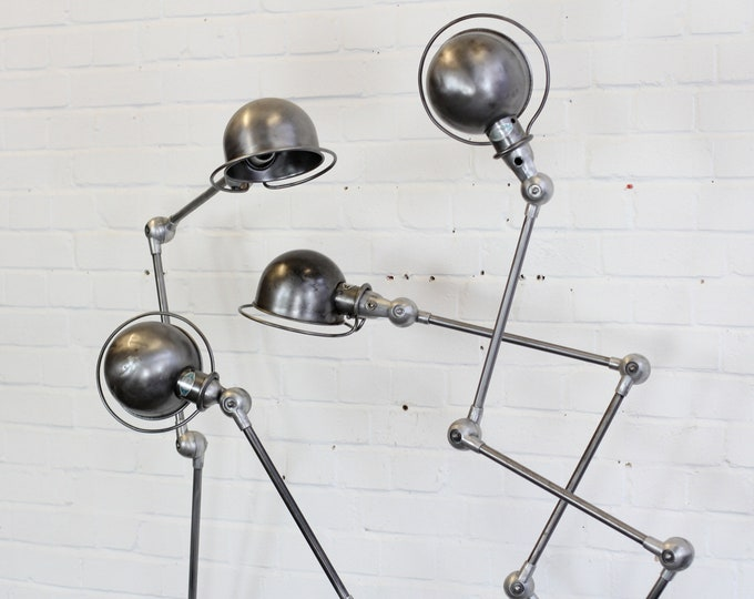 Floor Standing Industrial Lamps By Jean Louis Domecq Circa 1950s