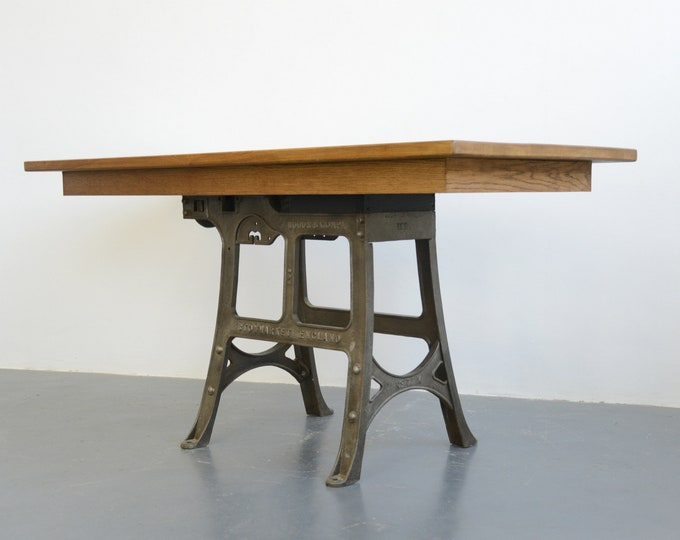 Large Industrial Table By Woods & Co Circa 1910