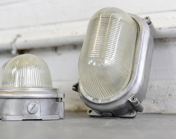 Industrial Bulkhead Lights By Revo Circa 1940s