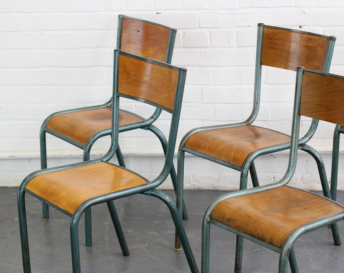 Industrial Stacking Chairs By Mullca Circa 1950s