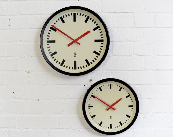 Mid Century German Office Clocks Circa 1960s