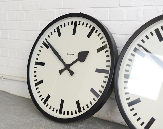 Large German Station Clocks By Siemens Circa 1950s