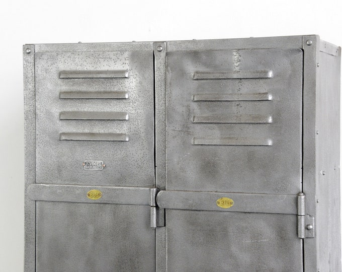Double Set Of Industrial Lockers By E Vogel Circa 1940s