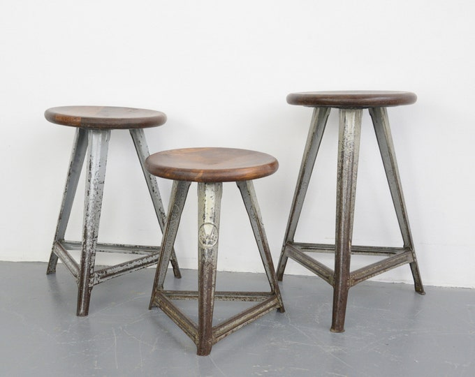 Industrial Factory Stools By Rowac Circa 1930s
