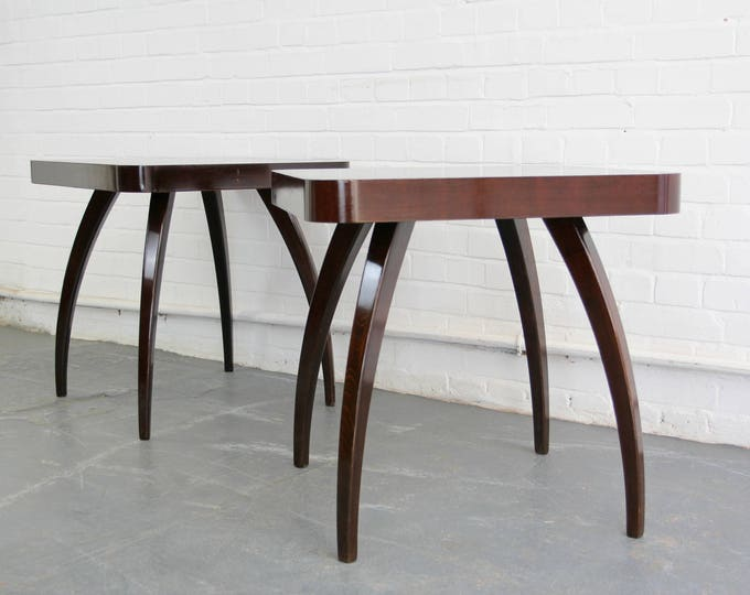H259 Spider Tables By Jindrich Halabala Circa 1940s
