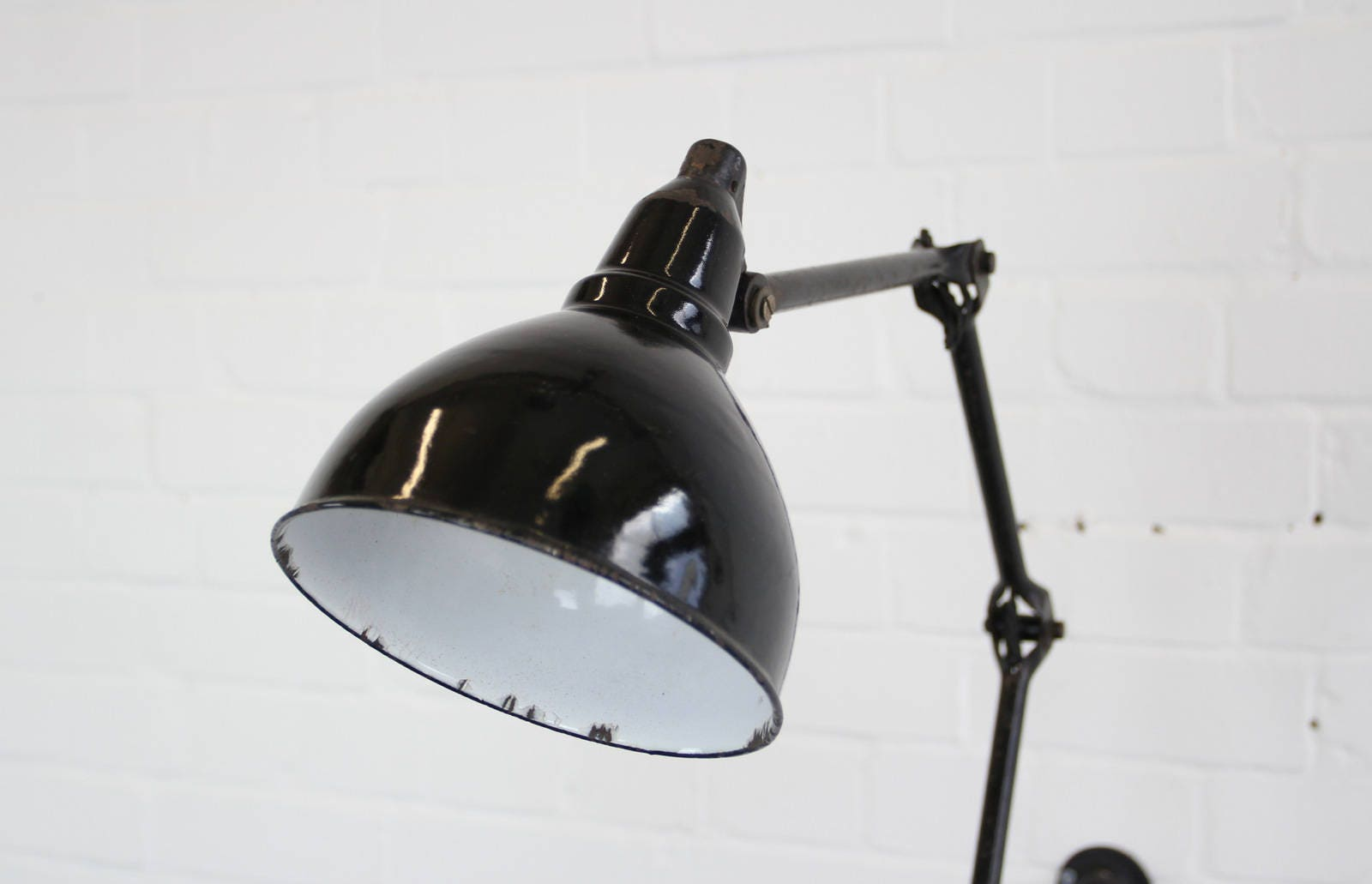 Early 1920s Industrial Task Lamp By HLX