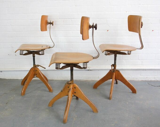 German Draftsman's Chairs By Polstergleich Circa 1930s