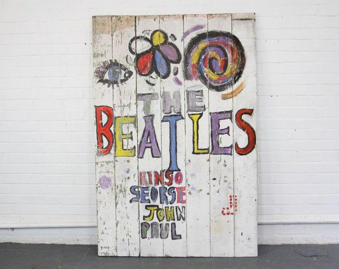 The Beatles Magical Mystery Tour Fan Art Sign Circa 1967