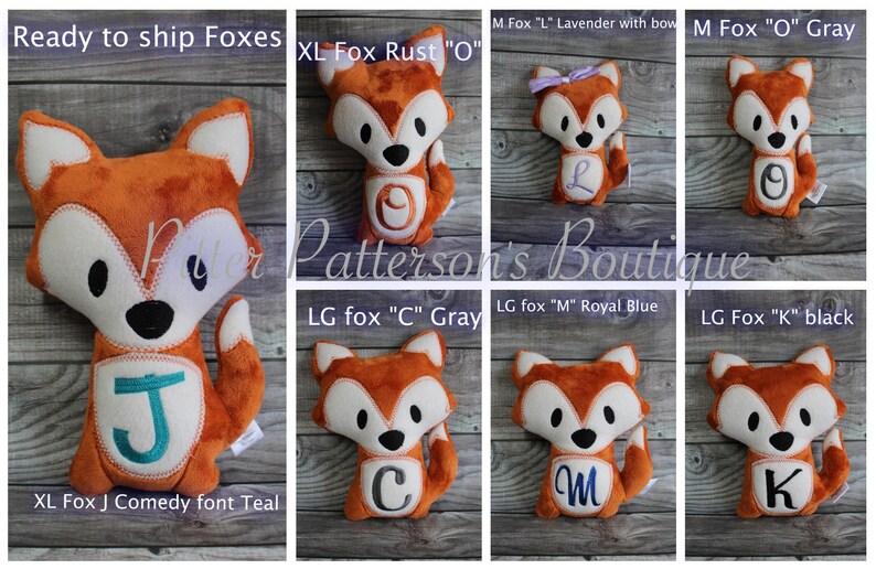 Personalized Fox Fox soft stuffed animal Fox stuffie image 1