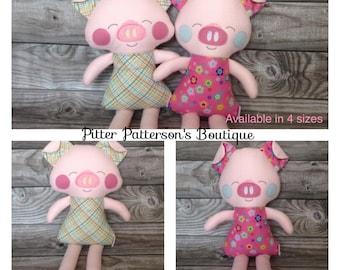 Personalized Pig, Baby gift, Birthday gift,Farm animal stuffed animals, Monogrammed stuffed animal