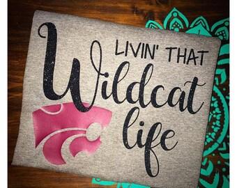 Livin' That Wildcat Life Vinyl Onesie or TShirt