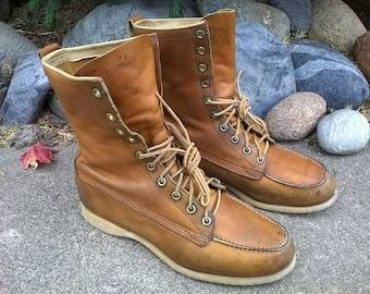 f1c7da957ce9 Men s Sears Sport Boots ~ Vintage 1960s ~ Size 8 A (Narrow)