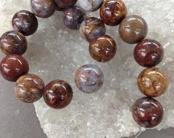 """Pietersite  stone  12mm  15.5"""""""