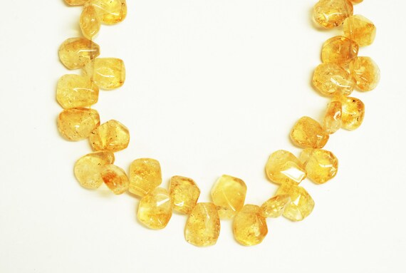 Ces perles sont chouettes Citrine forme Top Drill