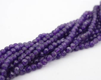 Natural Faceted 6mm Amethyst Beads