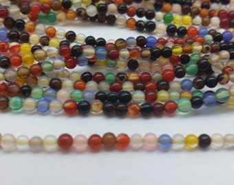 Mixed  Gemstone 2mm Seed beads