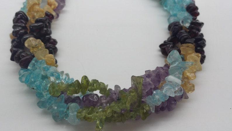 Multicolored quartz  mix gemstone  6-7mm 36 2 STDS