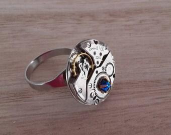 Vintage Vostok watch movement ring