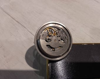 Vintage watch movement ring