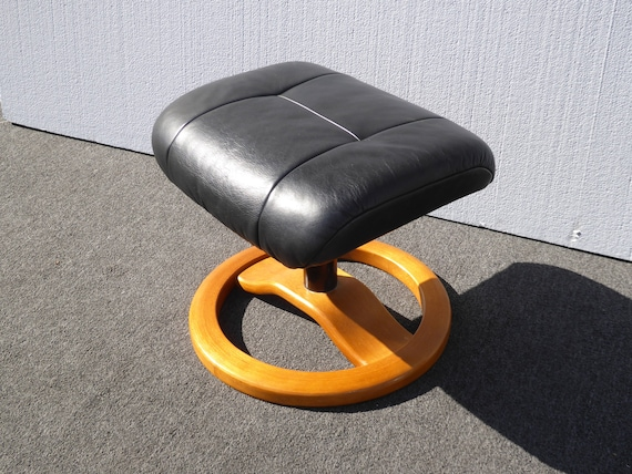 Tremendous Vintage Mid Century Black Recliner Chair Ottoman Hjellegjerde Mobler Norway Ocoug Best Dining Table And Chair Ideas Images Ocougorg