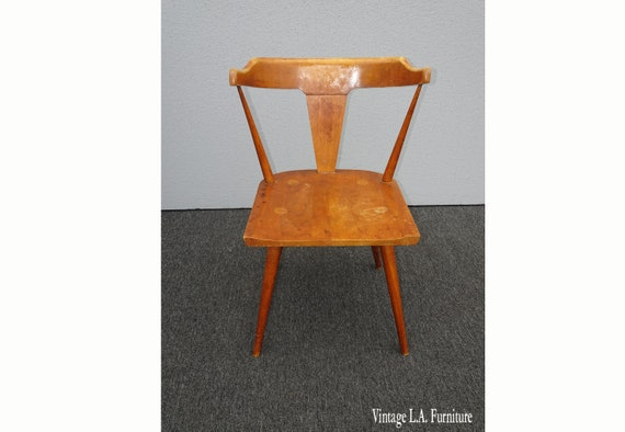 Vintage Mid Century Modern Paul Mccobb Planner Group Chair W Spindle Backrest 2