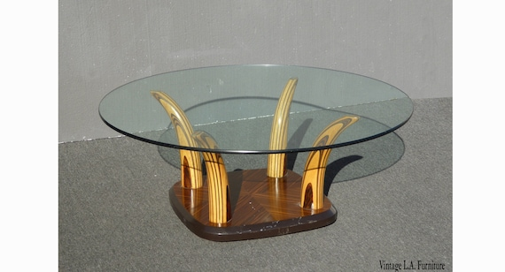 Fabulous Vintage Henredon Tiger Wood Horn Cocktail Coffee Table By Henredon Andrewgaddart Wooden Chair Designs For Living Room Andrewgaddartcom