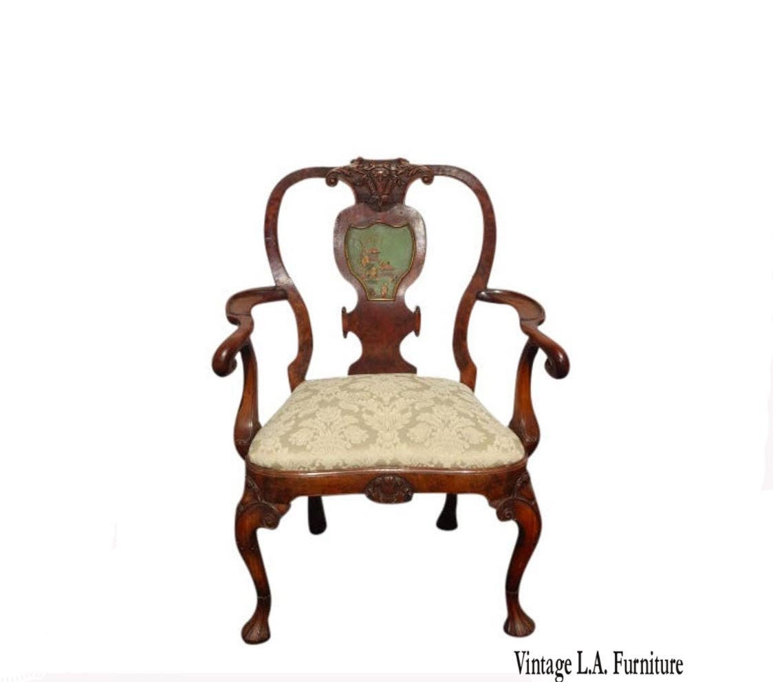 Wondrous Antique French Country Carved Wood White Accent Chair Queen Unemploymentrelief Wooden Chair Designs For Living Room Unemploymentrelieforg