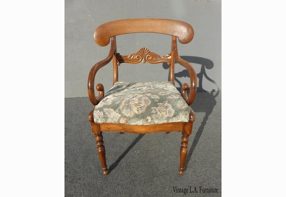 Fantastic Vintage French Country Carved Wood Accent Chair Unique Scrolled Hand Rests Unemploymentrelief Wooden Chair Designs For Living Room Unemploymentrelieforg