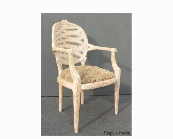 Phenomenal Designer French Cane Back Carved Wood Accent Arm Chair Wittled Southwest Ncnpc Chair Design For Home Ncnpcorg