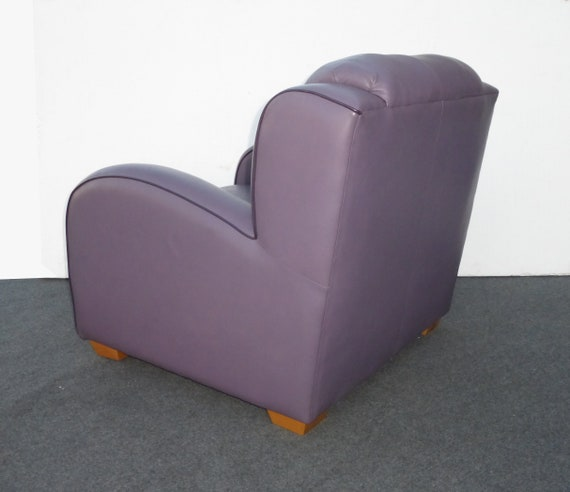 Pleasant Contemporary Modern Purple Leather Lounging Arm Chair Made The Leather Factory Beatyapartments Chair Design Images Beatyapartmentscom
