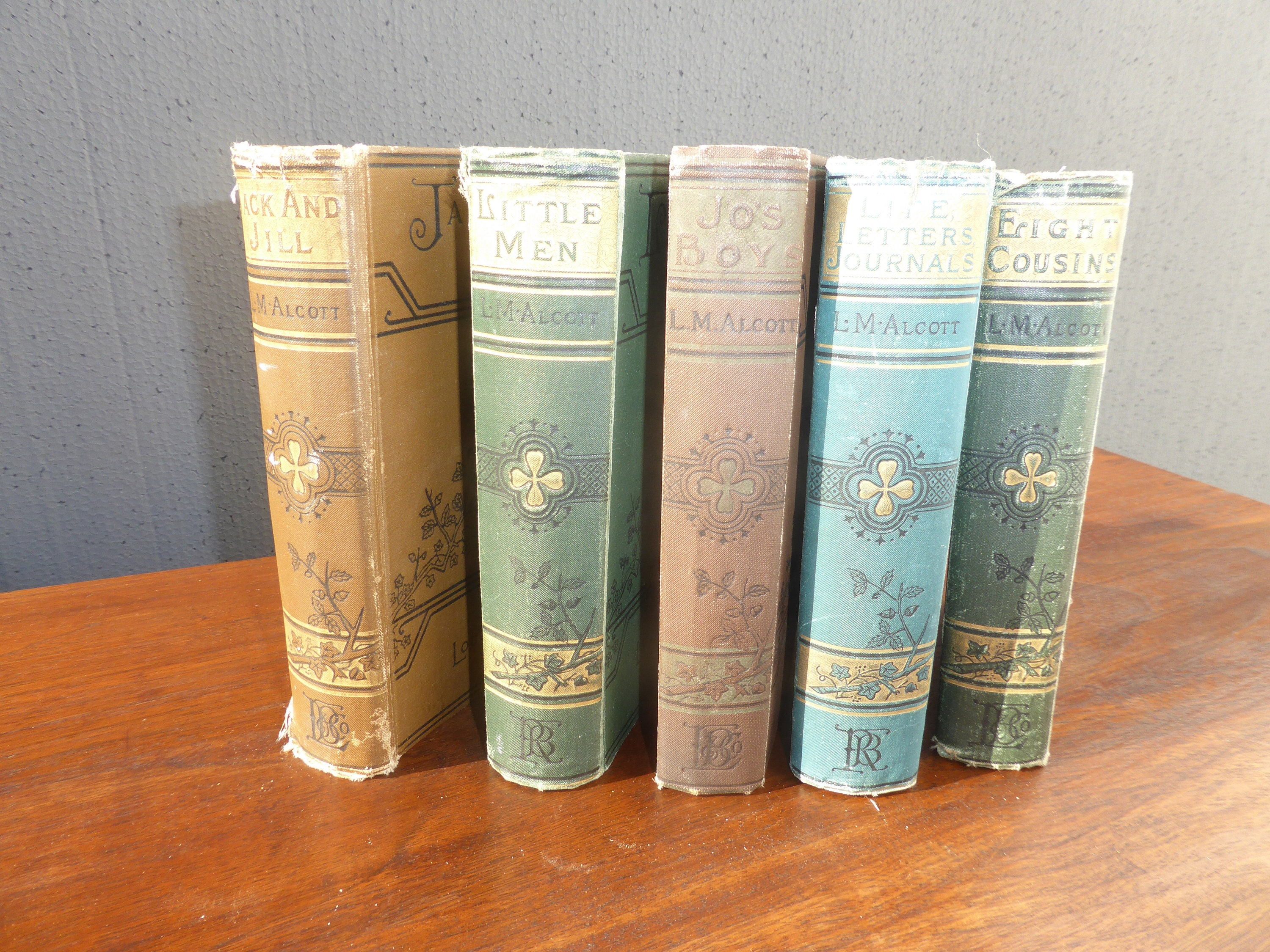 5 Books By Alcott Jack Jill Little Men Jo's Boys 8 Cousins Life Letters Journals by VintageLAfurniture