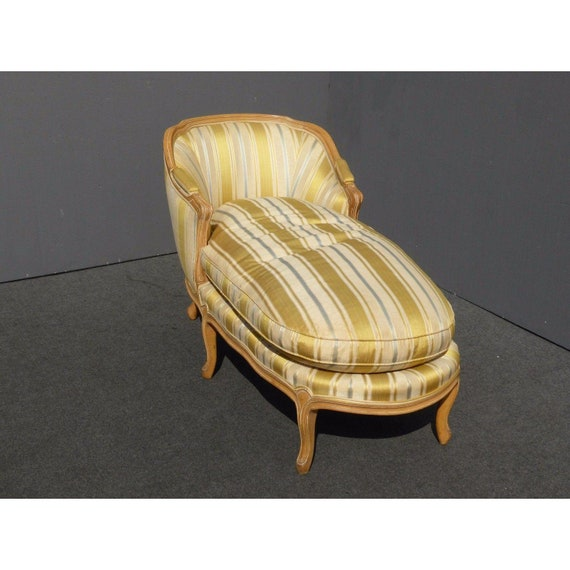 Excellent Vintage Baker French Provincial Gold Chaise Lounge Goose Down Cushion Theyellowbook Wood Chair Design Ideas Theyellowbookinfo