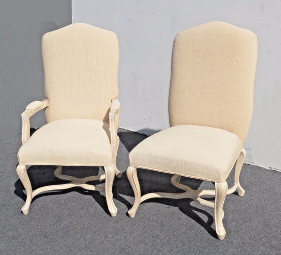 White Accent Chairs Used.Pair Of Kreiss Collection French Provincial White Accent Chairs