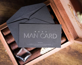 Will you be my Best Man? FUNNY Best Man Proposal - The MAN CARD