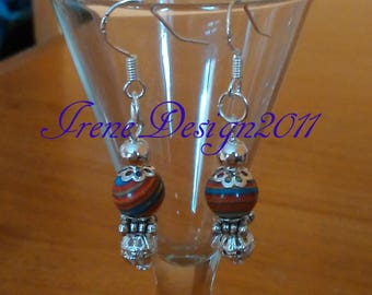 Striped Gemstone Earrings by IreneDesign2011