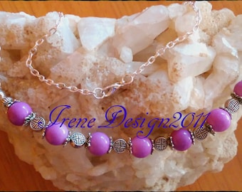 Purple Jade Necklace by IreneDesign2011