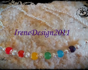 Chakra Necklace with 7 Gemstones by IreneDesign2011