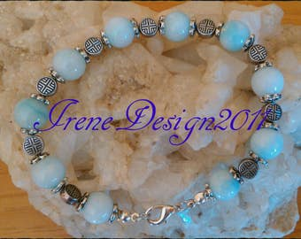 Amazonite Silver Bracelet by IreneDesign2011